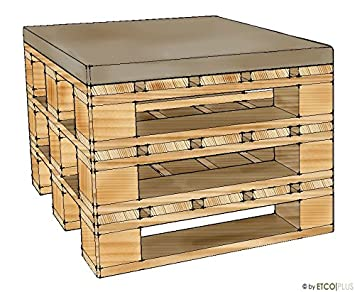 Etco Plus Palettenmobel Boston Hocker Bausatz Schlamm Amazon