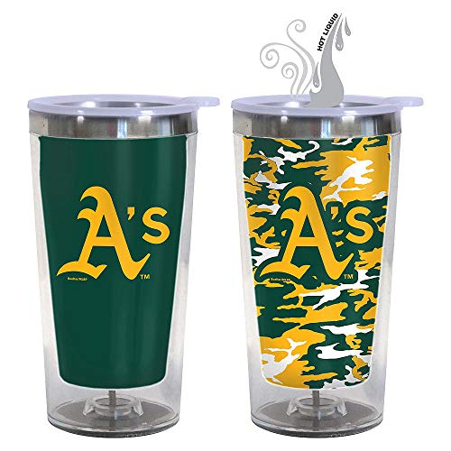 Boelter Brands MLB Oakland Athletics Color Changing Tumbler with Lid, 16-Ounce - Oakland Athletics Water