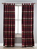 North End Décor Boulder Creek Stripe Room Darkening Curtain Panels, 2 Panels (48″ x 84″ each) Included