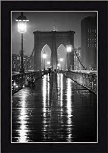 Brooklyn bridge by oleg lugovskoy black white for Brooklyn bridge black and white wall mural