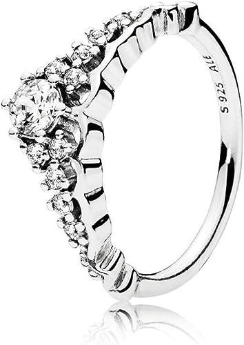 Amazon Com Pandora Fairytale Tiara Ring Clear Cz 196226cz 56 Eu