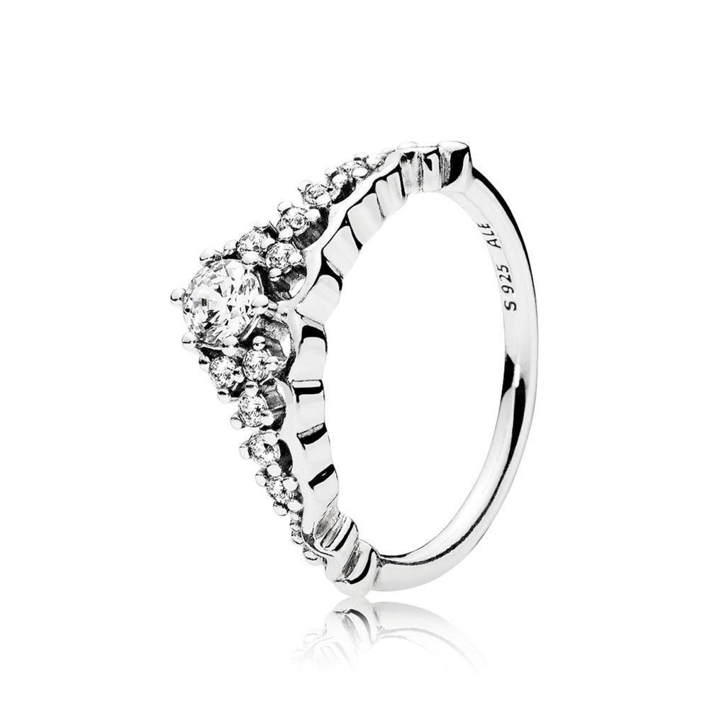 bcc4f3c2c Amazon.com: Pandora Ring 196226CZ-52 Silver Zirconia Tiara Fairy Tale:  Jewelry