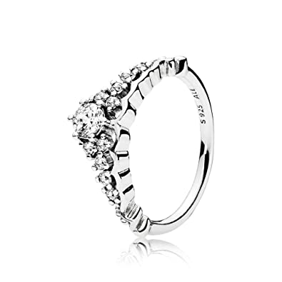 7eb85e36a Amazon.com: PANDORA Fairytale Tiara Ring, Clear CZ 196226CZ (8.5 ...