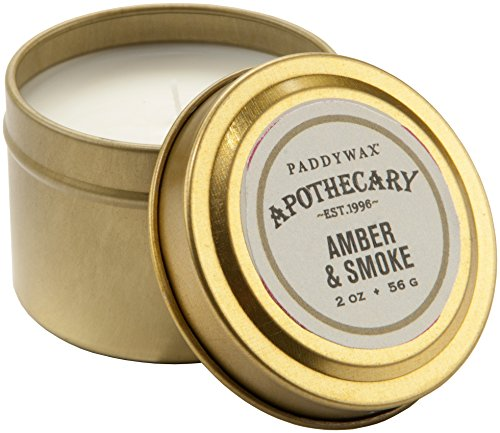 Soy Wax Travel Tin Candle (Paddywax Apothecary Collection Candle Travel Tin,)