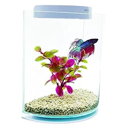 Marina Kit de acuario Betta/Siamese Fighting Fish Forma de media luna 3 litros