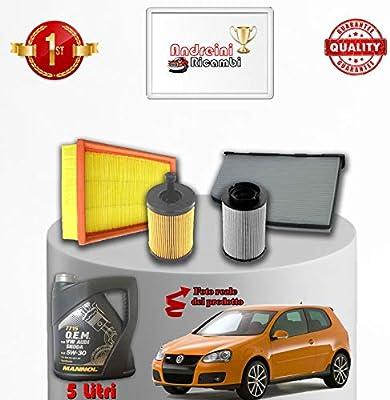 Kit revisión filtros y aceite Golf V 2.0 TDI 103 kW 140 CV desde ...