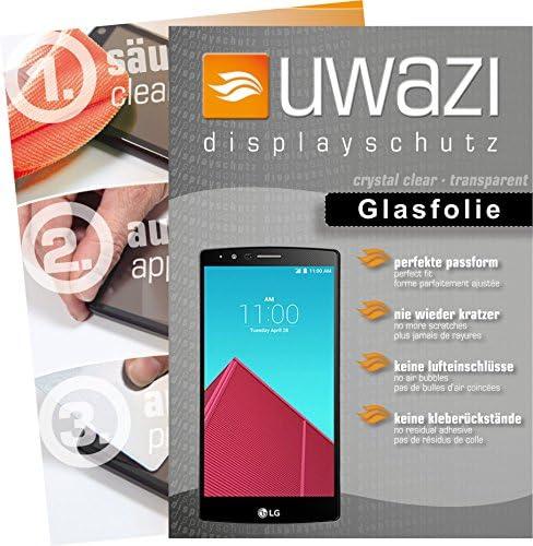uwazi LG G4 Semi Glasfolie - gehärtete Schutzfolie mit Spezialbeschichtung gegen Fingerabdrücke