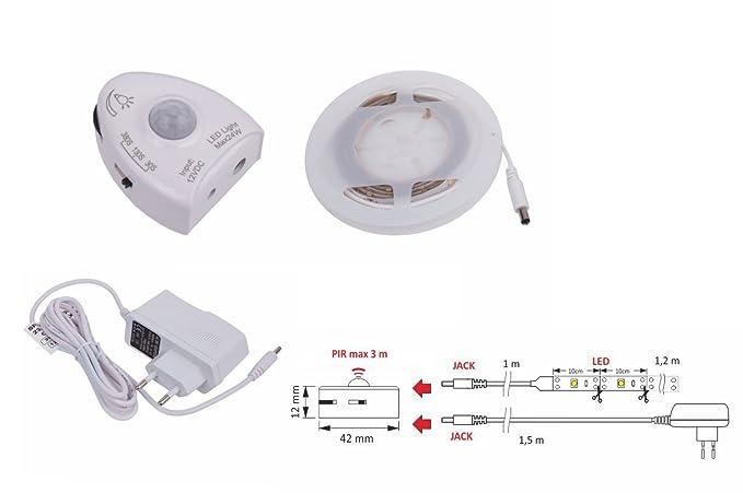 1.2 M 3 W PIR sensor tira LED de luz Sensor de movimiento