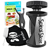 Spiral Slicer Vegetable Spiralizer Bundle – Original Zoodle Zucchini Veggie Spaghetti Pasta Noodle Maker – With Ceramic Peeler and Recipe eBook