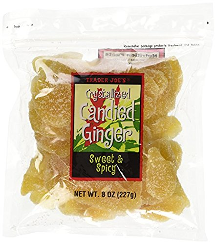 - 3 Packs Trader Joe's Crystallized Candied Ginger Sweet & Spicy