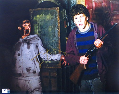 Jesse Eisenberg Signed Autographed 11X14 Photo Zombieland with Gun GV809717 by Cardboard Legends Online