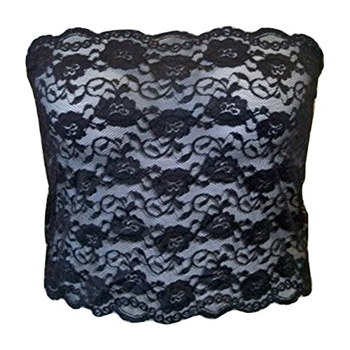 Cheap Ally Rose Topper Stretch Lace Camisole Bandeau Tube Top 12 Inches Long hot sale