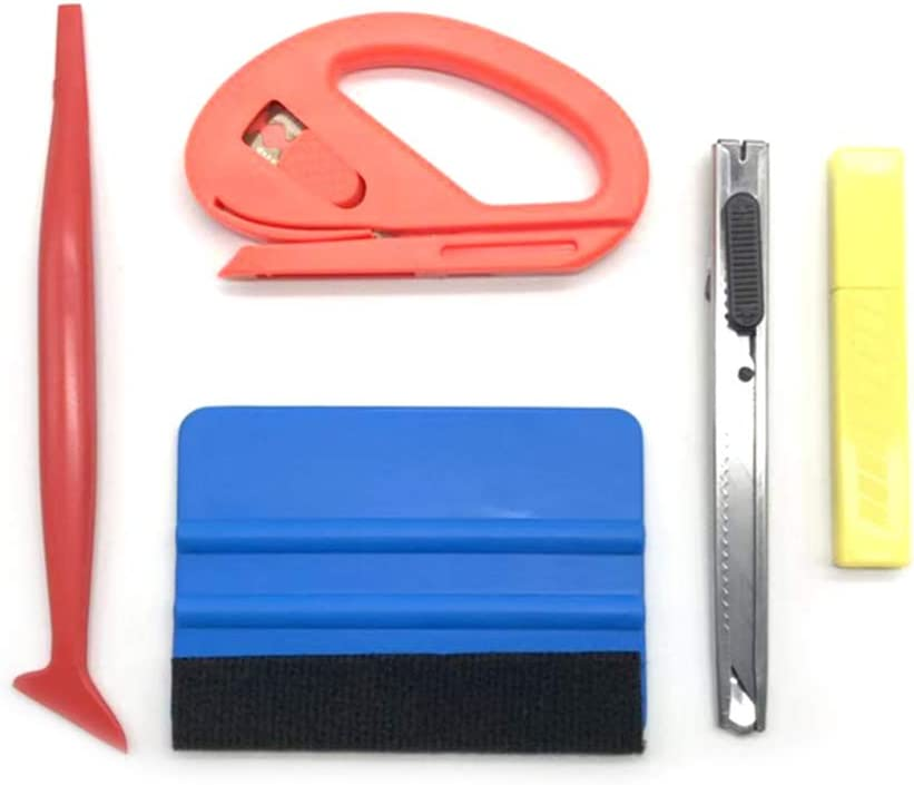 Alextry 5pcs//8pcs Car Window Tint Wrapping Vinyl Tools Squeegee Scraper Applicator Kits 5pcs