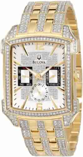 Bulova Crystal Collection Two Tone Watch
