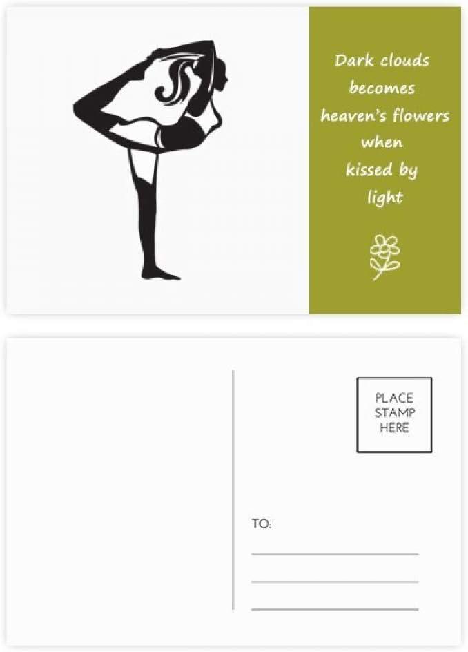DIYthinker El estirar del Yoga Mantenga la tarjeta Gracias Silueta ...