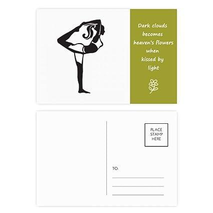 DIYthinker El estirar del Yoga Mantenga la tarjeta Gracias ...
