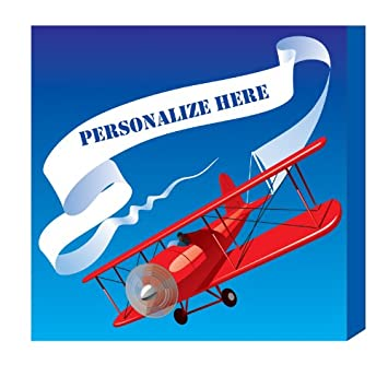 kids on canvas airplane canvas wall art personalized with name