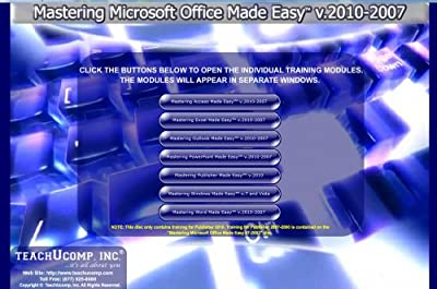 Learn Microsoft Office 2010 and 2007 & Windows 7 - 48 Hours of Video Training Tutorials for Excel 2010, Word 2010, PowerPoint 2010, Outlook 2010, Access 2010, Publisher 2010, Excel 2007, Access 2007, Word 2007, PowerPoint 2007 and Outlook 2007