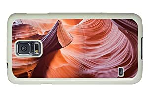 Hipster fancy Samsung Galaxy S5 Cases antelope canyons PC White for Samsung S5