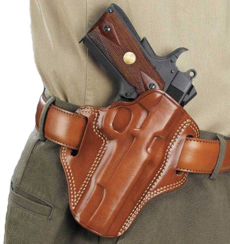 Galco Gunleather CM212 Combat Master Belt Holster for 1911 5-Inch Colt, Kimber, para, Springfield (Tan, Right-Hand) ()