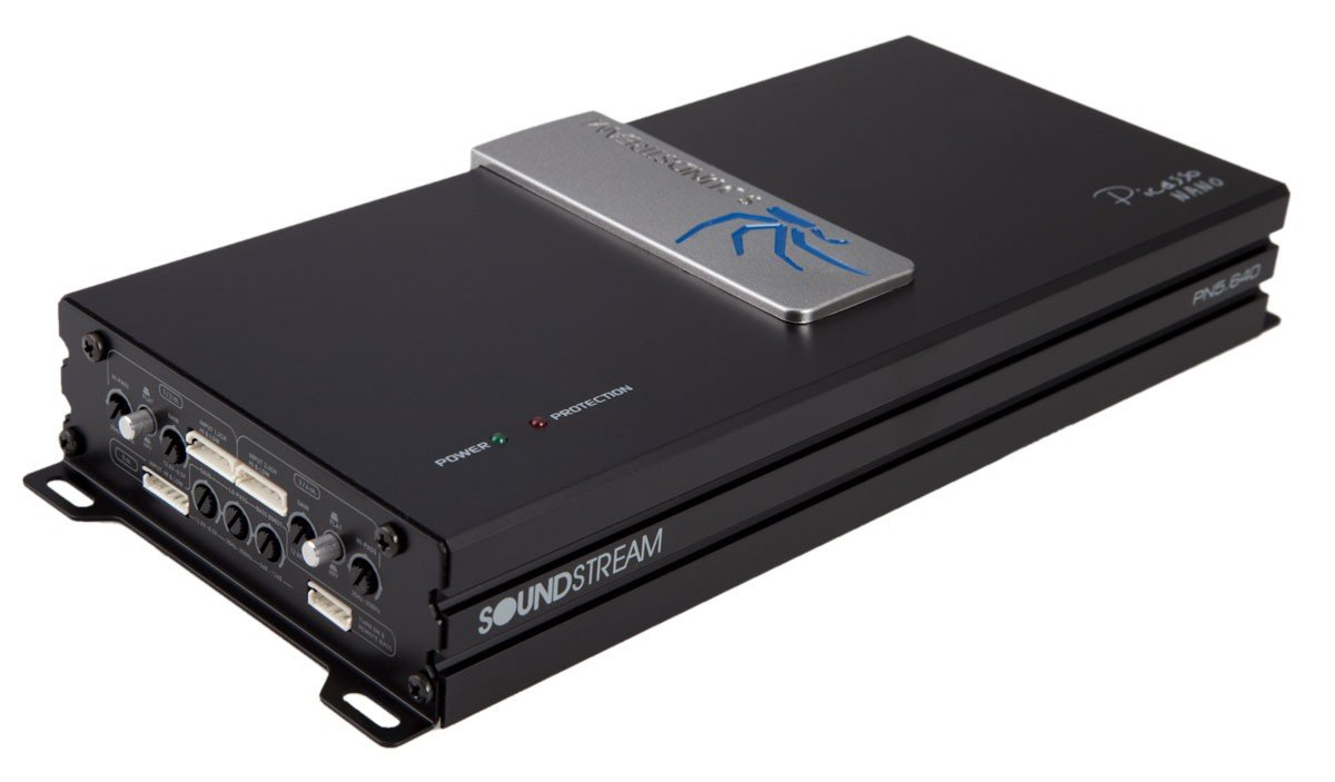 Soundstream PN5.640D 640W 5-Channel Picasso Nano Class-D Amplifier, Black and Amp; Silver SOWDU