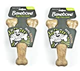 Benebone Flavored Wishbone Chew Toy, FeMnWP 2 Pack(JUMBO Bacon)