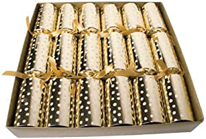 Entertaining with Caspari Celebration Crackers, Small Dots, Gold, Box of 6