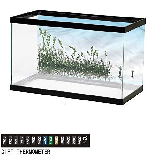 bybyhome Fish Tank Backdrop Landscape,Scenery Lake Bushes,Aquarium Background,30