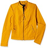VERO MODA Women's Synthetic Jacket (1955909003_Harvest Gold_X-Large)
