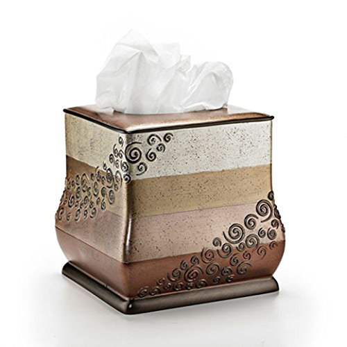 Popular Home The Miramar Collection Tissue Box, 8 by 8 by 8