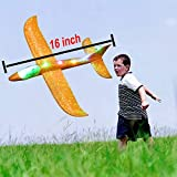 Lotiang 4 Pack Airplane Toys, 16 INCH Manual Foam