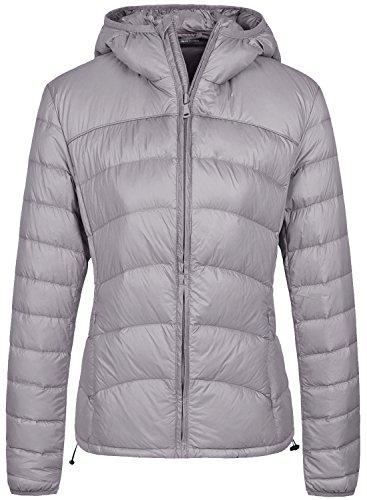 Wantdo Womens Packable Lightweight Warm Chevron Slim Fit Down Jacket Hood