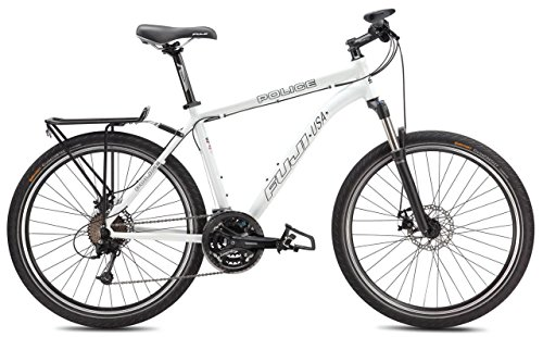 Fuji Police Special Mountain Bicycle w/26 Inch Wheels WHITE #2014, 19 Inch