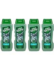 Irish Spring Body Wash, Deep Action Scrub, 18 fluid ounce (Pack of 4)