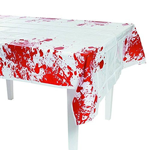 Fun Express Zombie Blood Table Cover Party Decor