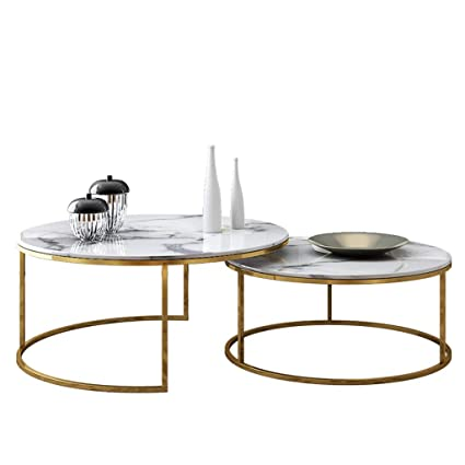 Amazon.com: Modern Living Room Coffee Table Set, Spacious ...
