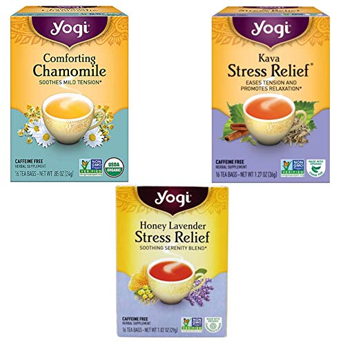 Yogi Tea Relaxation Variety Pack -3 Stress Relieving Herbal Teas