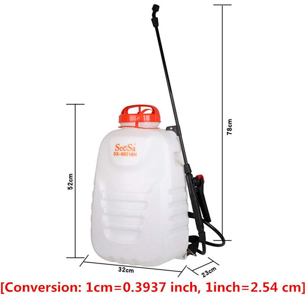 BoTaiDaHong 4 Gallon Battery-Powered Backpack SPR-Ayer P-est Control PES-ticide/Fert-ilizer 12V 8A 4 Nozzles Spray-er Rechargeable Battery Pressure Sprayer for Agric-ultural Gardening by BoTaiDaHong