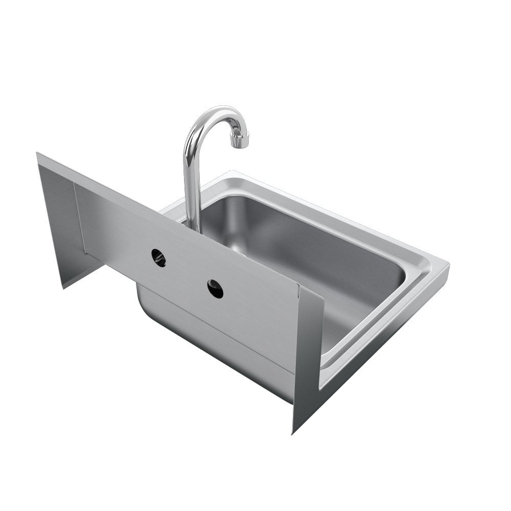Elkay SEHS-17X Stainless Steel 300 Super Economy Hand Sink with 1-1/2'' Drain, 15 Length x 17 Width x 11'' Height