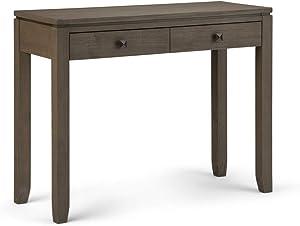 Simpli Home AXCCOS-CON-FG Cosmopolitan Console Sofa Table Solid Wood, 38 inch Wide Contemporary, Farmhouse Grey