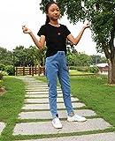 Sitmptol Tall Girls Jeans Kids Denim Light Blue