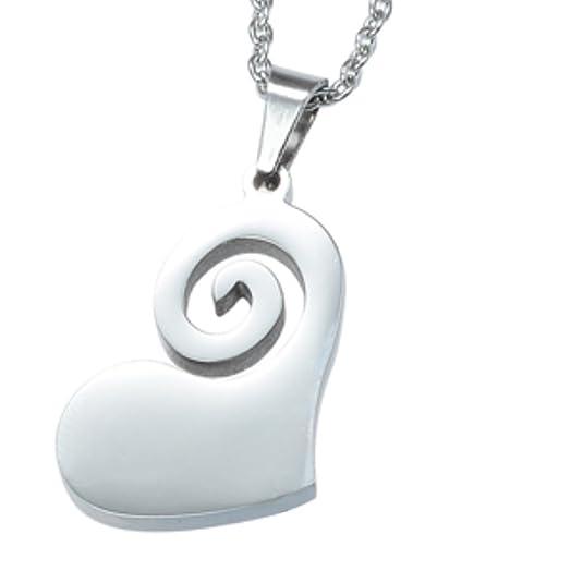 Magnetschmuck Kettenanhänger Herz Coracao Lebensfreude filigran und flach gearbeitet von Energetix 4you 1053 + Schmuckpouch