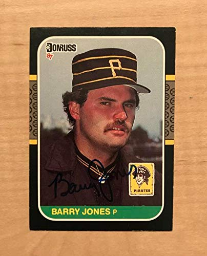 BARRY JONES PITTSBURGH PIRATES SIGNED AUTOGRAPHED 1987 DONRUSS CARD #602 W/COA