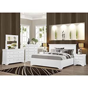 Shelby 6 Piece Cal King White Bedroom Set Sports Outdoors