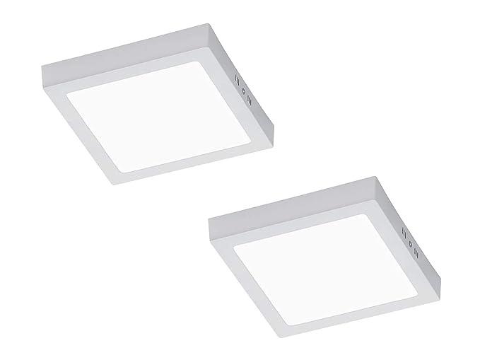 Trio, - Lámpara LED de techo Zeus en un juego de 2 unidades ...