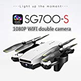 Studyset SG700-S RC Quadcopter with Camera 1080P WiFi FPV Foldable Selfie Drone White