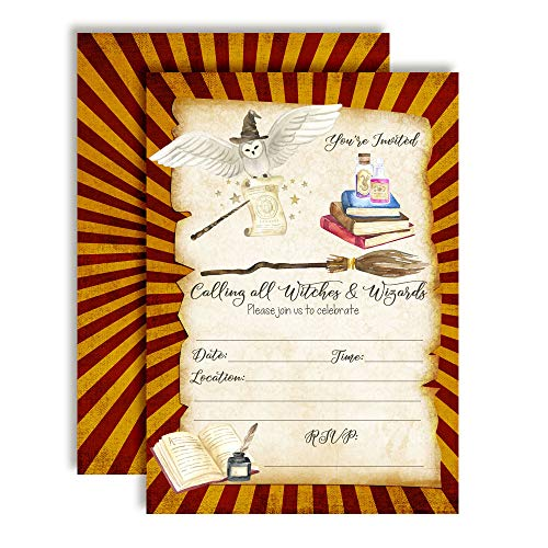 Magical Wizard School Themed Birthday Party Invitations, 20 5