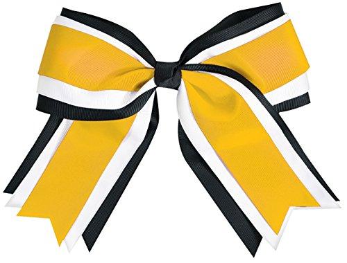 Cheerleaders Layered Look Top - Jumbo 3 Color Hair Bow Gold