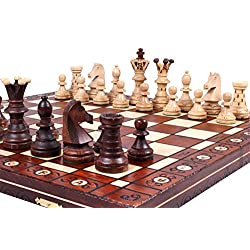 The Jarilo, Unique Wood Chess Set, Pieces, Chess Board and Chess Piece Storage