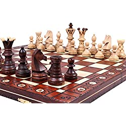 The Jarilo - Unique Wood Chess Set, Pieces, Chess Board & Storage